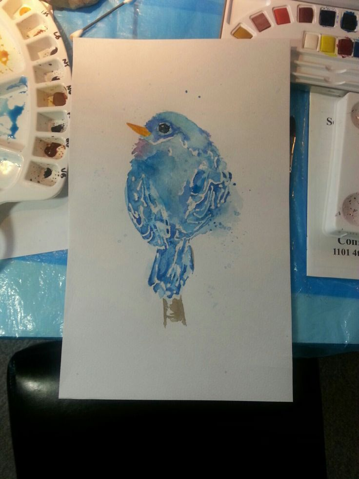 Watercolor. I played with watercolors and this was the result.