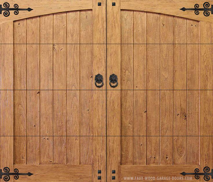 86 best faux wood garage doors images on pinterest wood for Garage door wood overlay