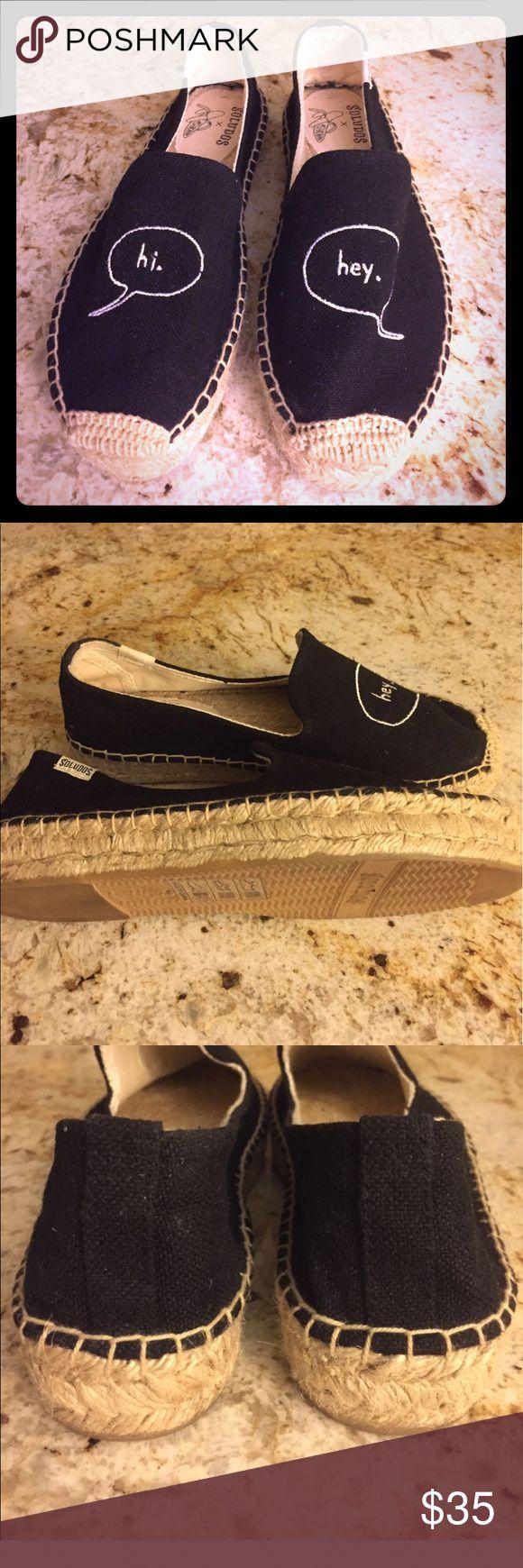 Women soludos embroidered plataforma espadrille Soludos platform espadrille color black Shoes Espadrilles