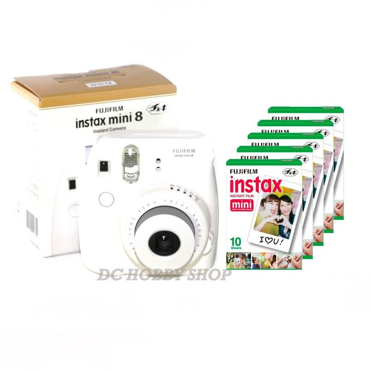 Fuji instax mini 8 white Fujifilm instant camera + 50 film | Cámaras y fotografía, Fotografía analógica, Cámaras analógicas | eBay!