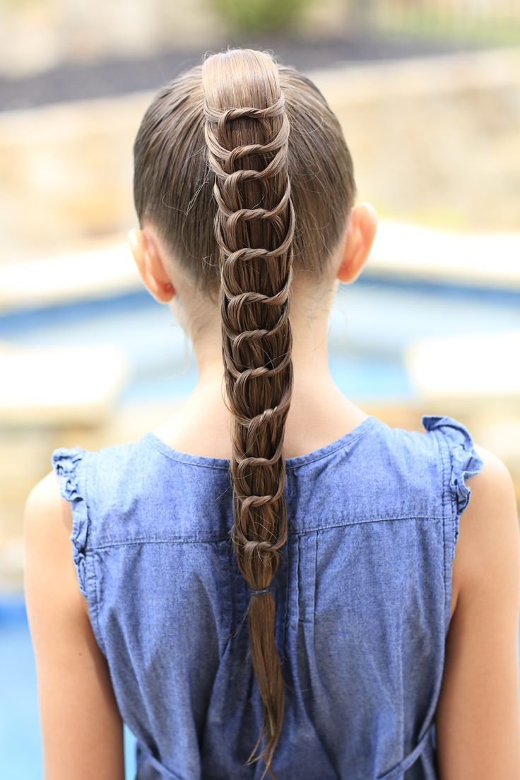 The Knotted Ponytail Hairstyle! So cute! #cutegirlshairstyles #CGHKnottedPonytail #ponytail #hairstyles #hairstyle