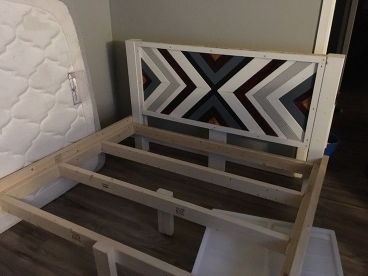 Custom bed frame I made, boho style.