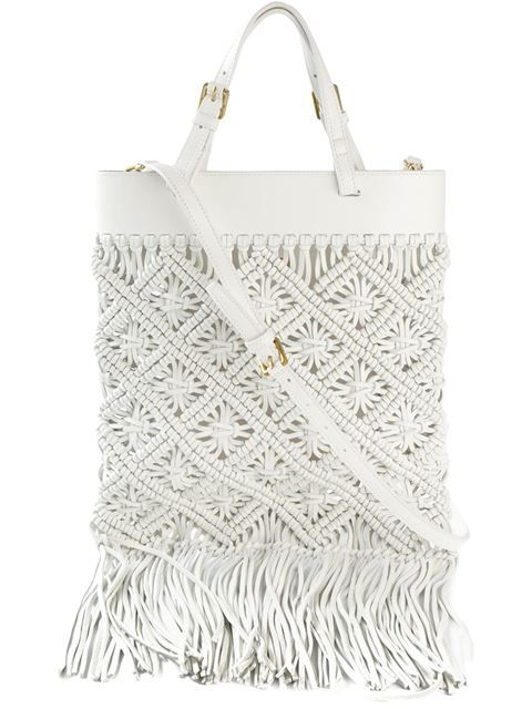 Shop Tory Burch macrame tote in Vanilla Shoes & Bags from the world's best independent boutiques at farfetch.com. Shop 300 boutiques at one address.