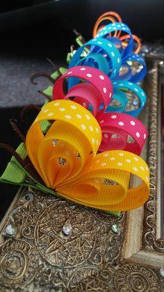 Colorida mariposa bebé de cabello clip 5 colores a por RosesBowses