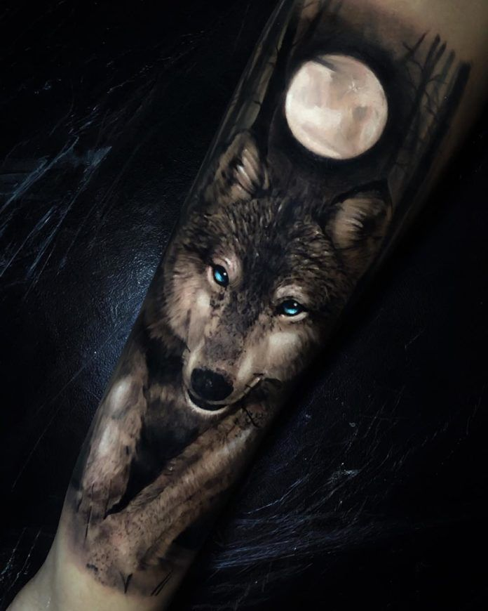 28+ Tatouage loup et lune ideas