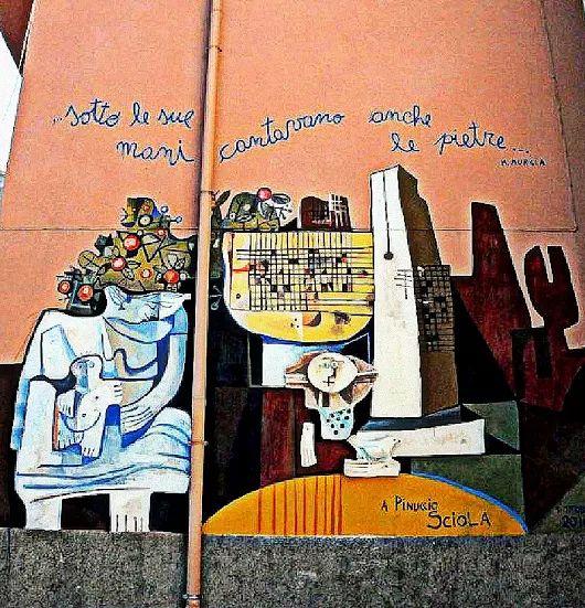 ...sotto le sue mani cantavano anche le pietre... Dedicato a Pinuccio Sciola il nuovo murale di Francesco Del Casino a Orgosolo Orgo Solo  Google+