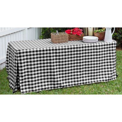 Tablevogue Fitted Tablecloth Color: Black