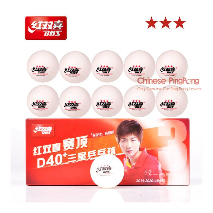 Bonus pack: 10 bola/kotak terbaru d40 + tenis meja dhs 3-star balls baru bahan plastik poly ping pong balls