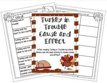 Turkey Trouble Cause and Effect Freebie