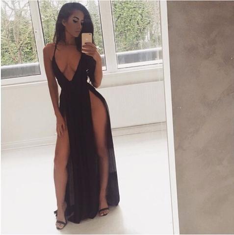 Catalina Double Slit Maxi Dress