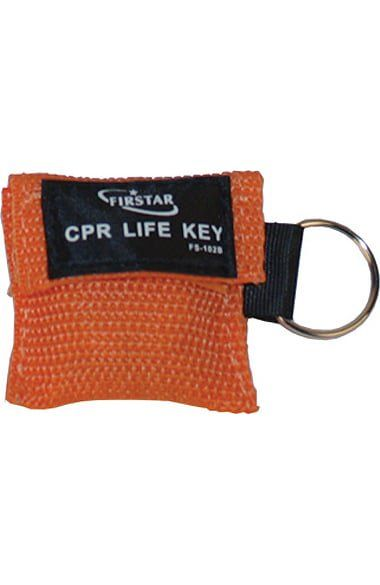 Be equipped to save a life with the Scrub Stuff Compact First Aid CPR Mask Keychain. Easy and small enough to keep on hand so you're ready at a moment's notice.Transparent sheet that covers the who...