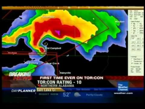 Dr. Greg Forbes covers the historic Northwest Alabama tornado between 3 and 5 p.m. on 4/27/11.