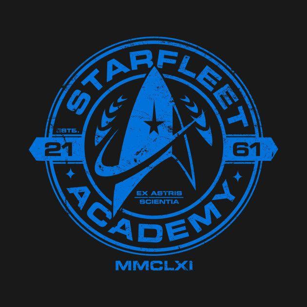 STARFLEET ACADEMY T Shirt Mens Star Trek Startrek Tshirt USS Enterprise