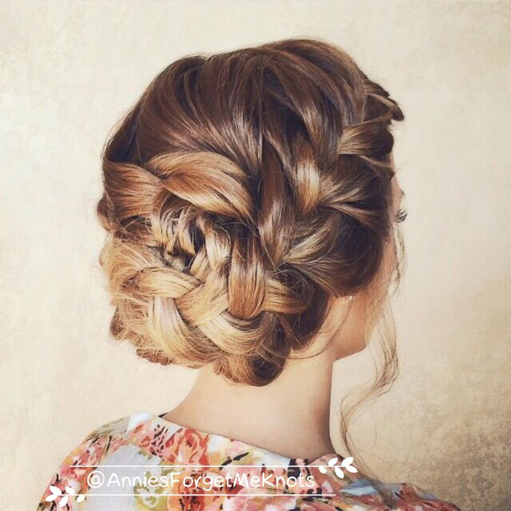loose french braid updo. wedding