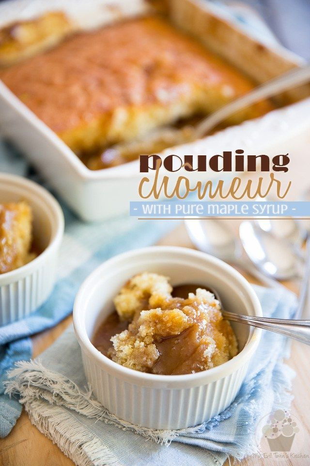Pouding Chomeur With Pure Maple Syrup Recipe Cuisine Quebecoise