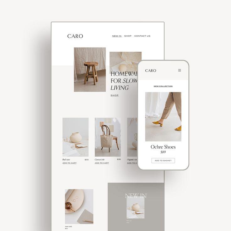 Caro Minimalist Website Mockup By Moyo Studio Website Mockup Instagram Feed Ideas Website Design