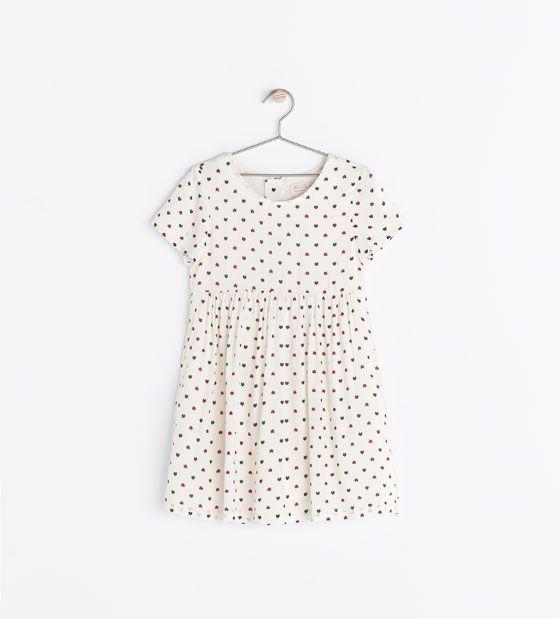 Image 1 of HEART PRINT DRESS from Zara