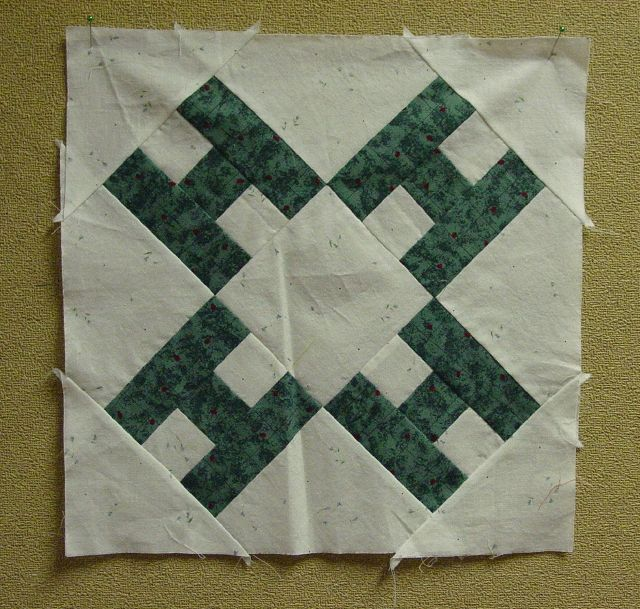 Looks like the 4-H quilt pattern originally published in the Kansas City Star.