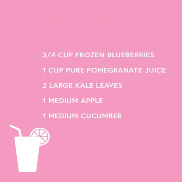 Blueberry and Pomegranate Detox Smoothie - Blueberries and pomegranate are two of the most powerful antioxidant foods available. They also help flush out any toxins that can be lingering after your holiday feast. Apple, kale, and cucumber also help flush out toxins and help detox the liver.