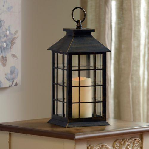 FIREPLACE $14.99  Brushed Bronze LED Lantern | Kirklands hang these
