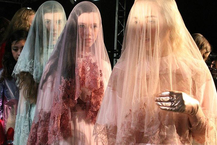   Meadham Kirchhoff AW 2014 - London fashion week. Yes to the pastel creepiness..