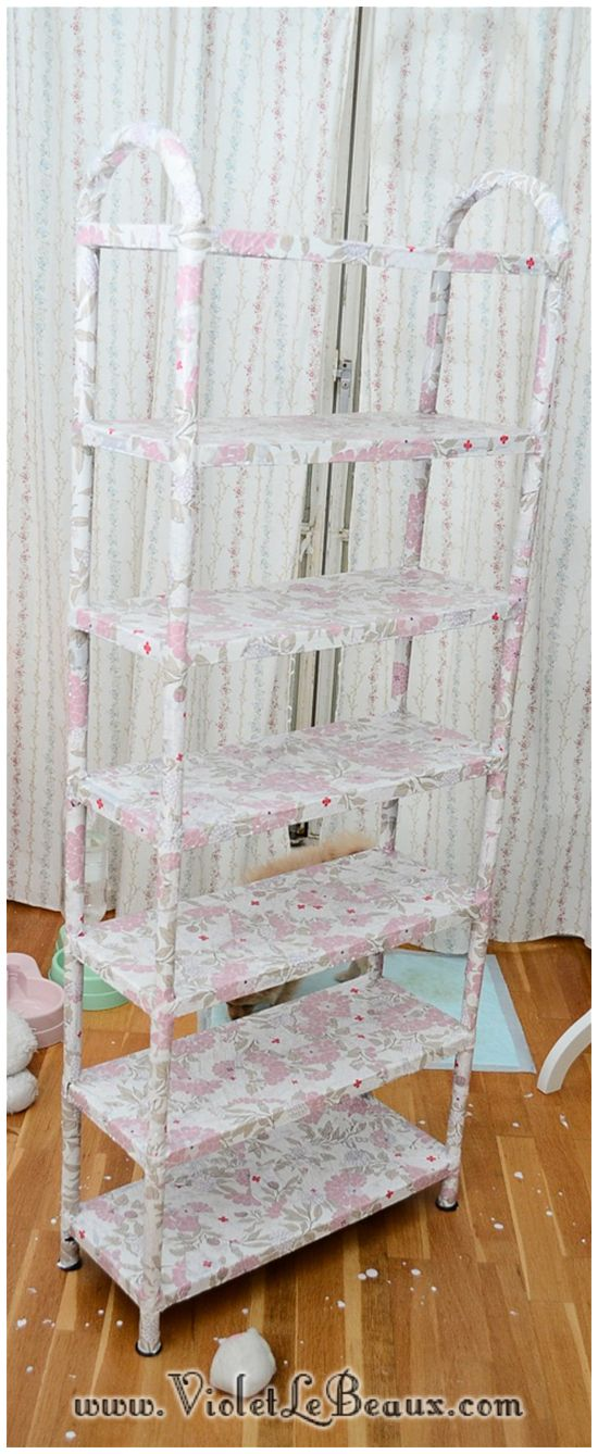 How To Decoupage Shelves - Home Sweet Home - Violet LeBeaux - Free Cute Craft and Beauty Tutorials