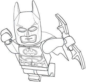 dibujos de lego batman para colorear