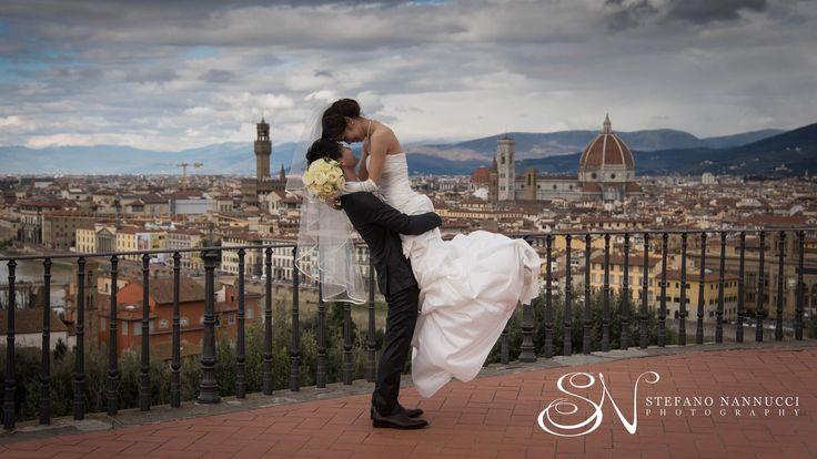 Japanese couple in Florence #weddinginflorence #michelangelosquare #フィレンツェでの結婚式 #weddingphotographer