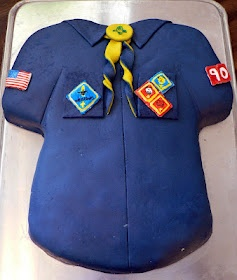 Cub Scout Shirt cake ... change the colors and it could be a BOY SCOUT CAKE