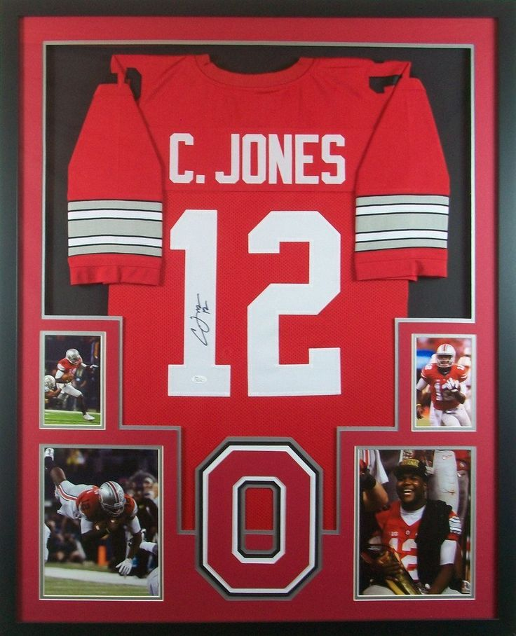 cardale jones framed jersey signed jsa coa autographed ohio state buckeyes