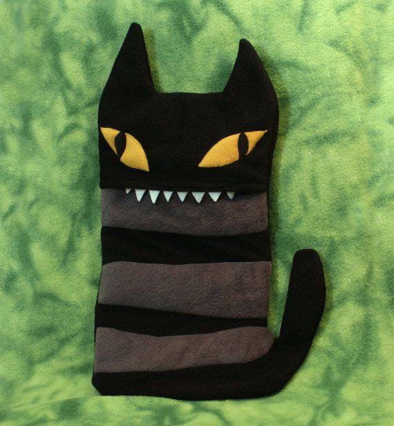 Comfort Critter Hot Water Bottle covers - Spooky Cat