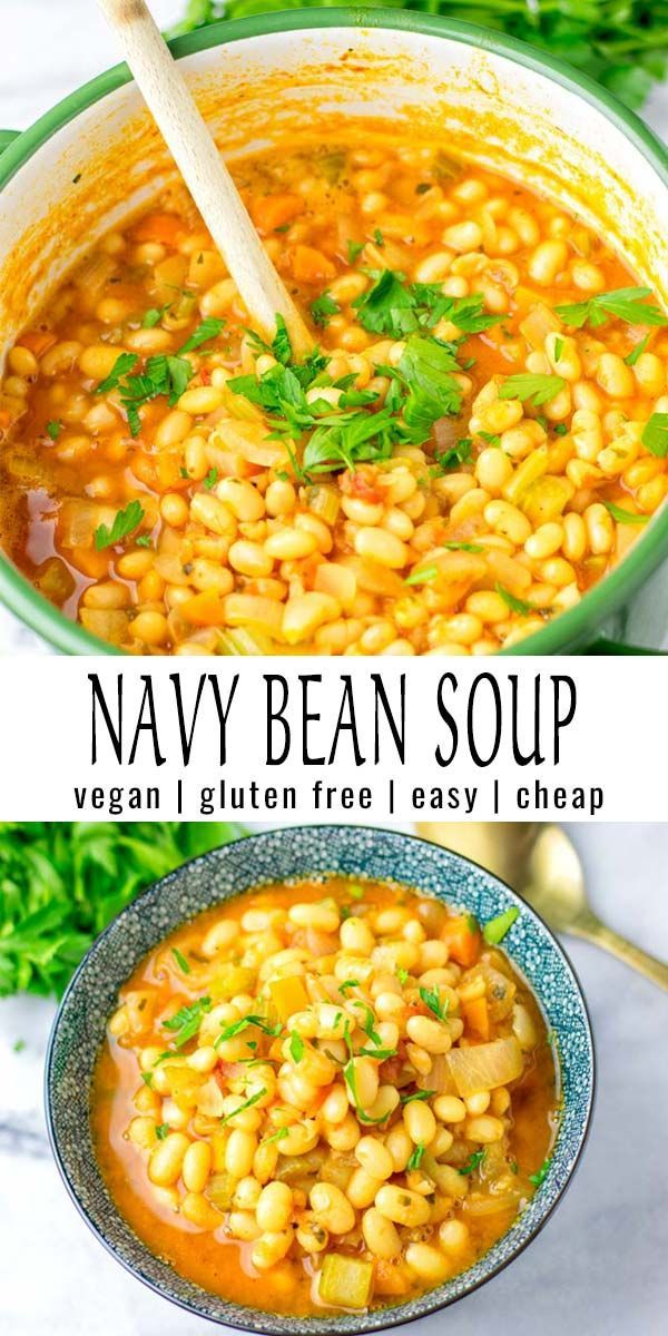Mar 20, 2020 – Budget friendly and so filling: this Navy Bean Soup is super easy to make and so delicious. A keeper that…