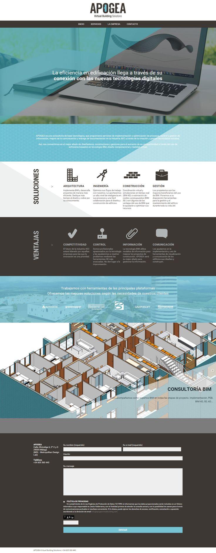 Apogea Virtual Building, diseñadores, constructores y gestores con base tecnologica. Así desarrollamos su sitio web en Factor ñ.
