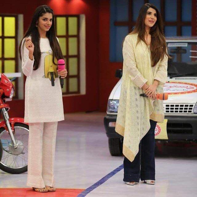 Sanam saeed & Hareem farooq in #Jeetopakistan today for #Dobaraphirse promotions! ✨ - - #Sanamsaeed #Hareemfarooq #Followus ✨