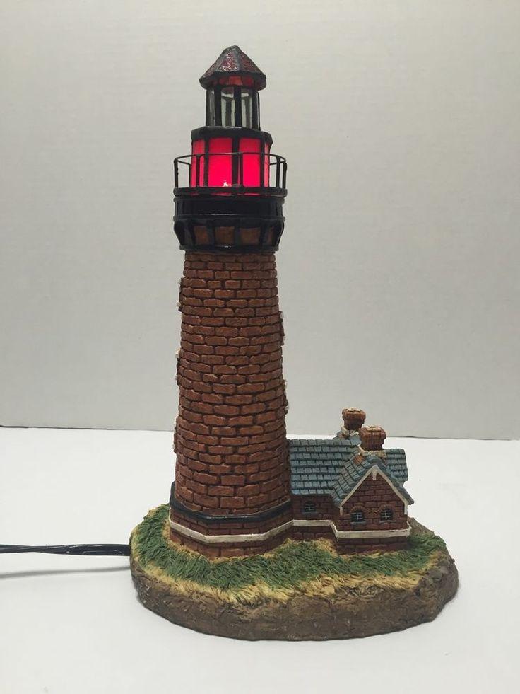 Currituck Beach Style Lighthouse Lamp Nightlight Tested EUC