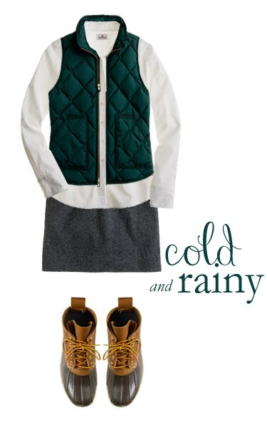 Outfits for Cold and Rainy Days