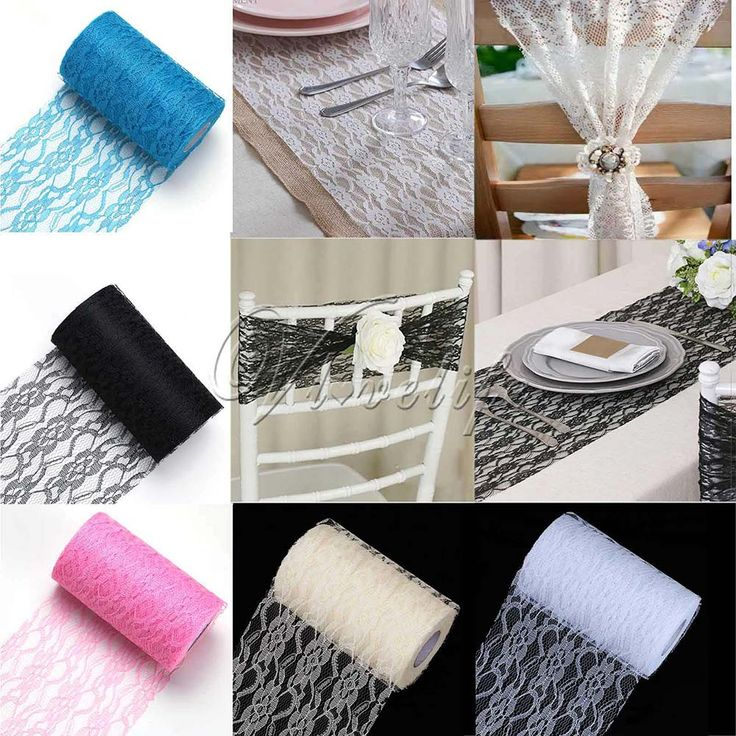 "6""x 25Yards Vintage Lace Roll Fabric Tulle Table Runner Chair Sash Tulle Roll Tutu Skirt Wedding Party Decor Supply"