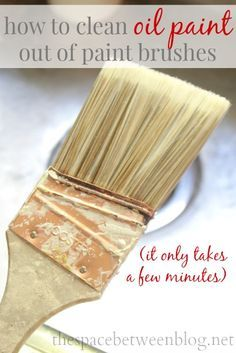 how to clean oil based paint off paint brush