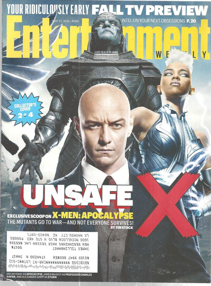 Oscar Isaac James McAvoy Entertainment Weekly Magazine May 27 2016 X-Men  #unknown