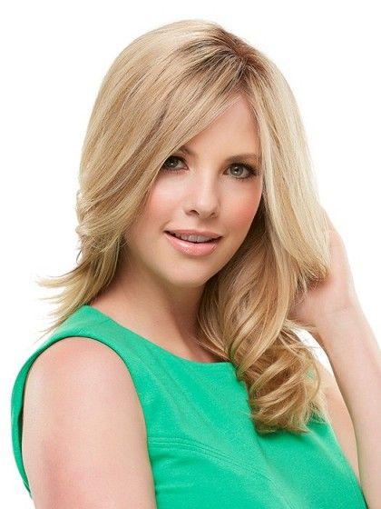 Perruque lace front blonde ondulée de cheveux naturels - Photo 1