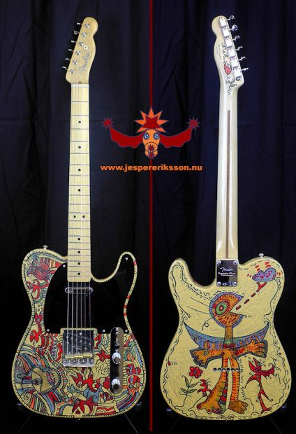 Fender Telecaster Baja Unique Piece Of Art by Swedish artist Jesper ErikssonComes with a one of akindScreenprinted Tweed CaseBuyer pays shipping and If there is any customs fee.See more pictures at:http://jespereriksson.nu/fendertelecasterbaja/index.htmlMore Guitarprojects at:http://jespereriksson.nu/guitarprojects.html