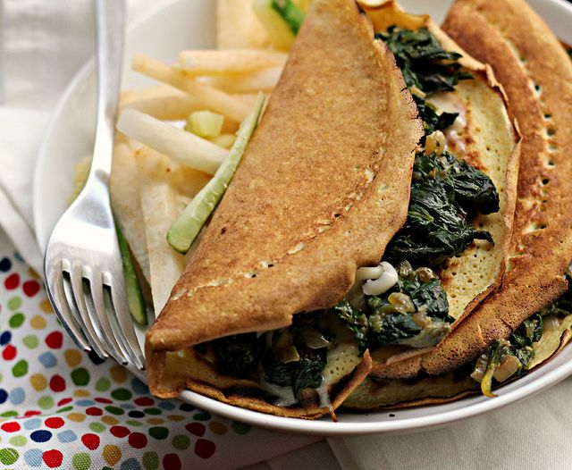Masa Crepes with Chard, Chile and Cilantro - Joanne Eats Well With Others