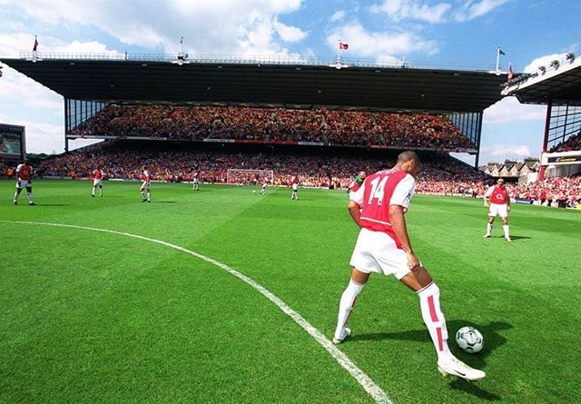 Thierry Henry Pre Match In Front Of The North Bank At Highbury A