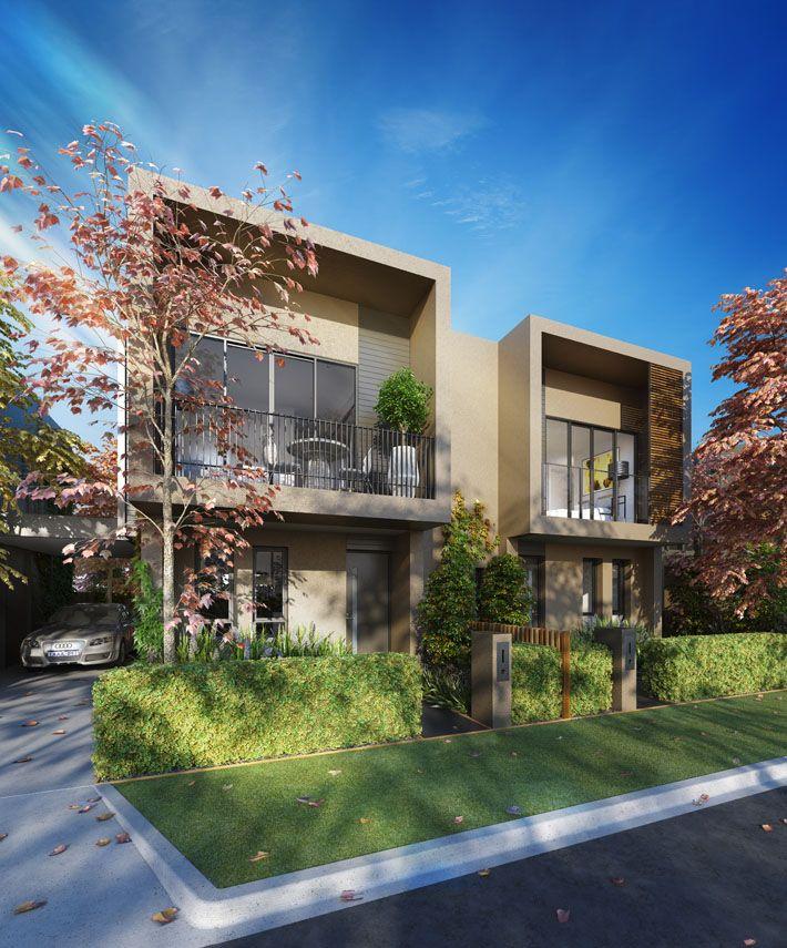'Central Park Cheltenham' townhouse development in Melbourne by Conrad Architects