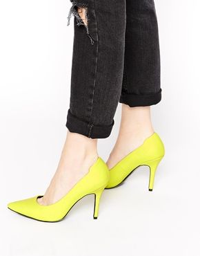 ALDO Ybuvia Neon Yellow Heeled Pumps