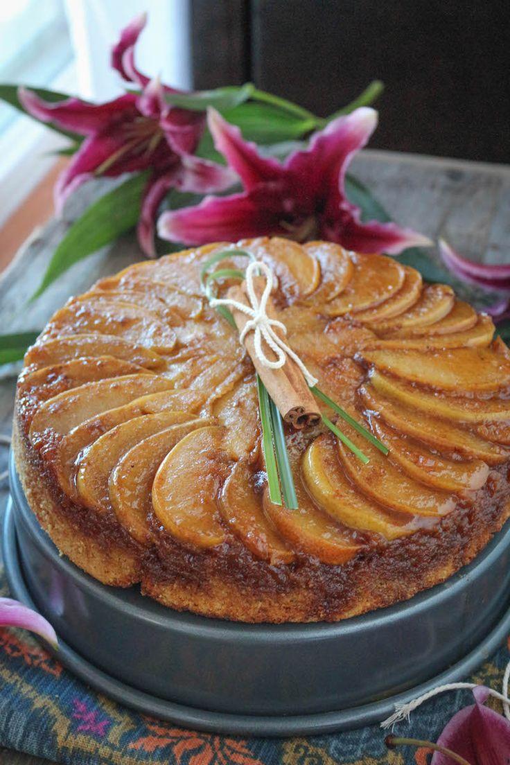 PaleOMG Cardamom Caramel Pear Upside Down Cake #paleo #grainfree #glutenfree