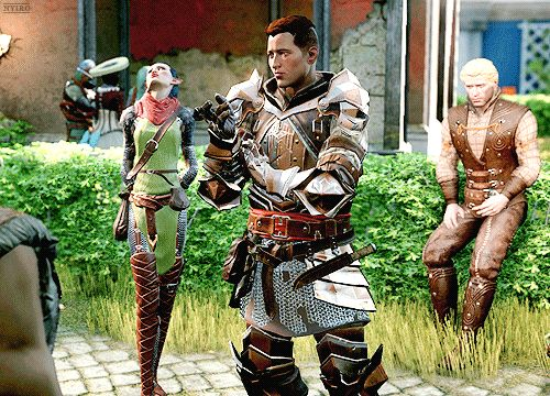 Dragon Age: Inquisition [Trespasser] || Krem looks like he knew this would happen.