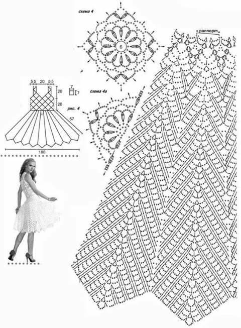 Pin de Monica Martinez en VESTIDITOS A CROCHET   Crochet, Crochet ...