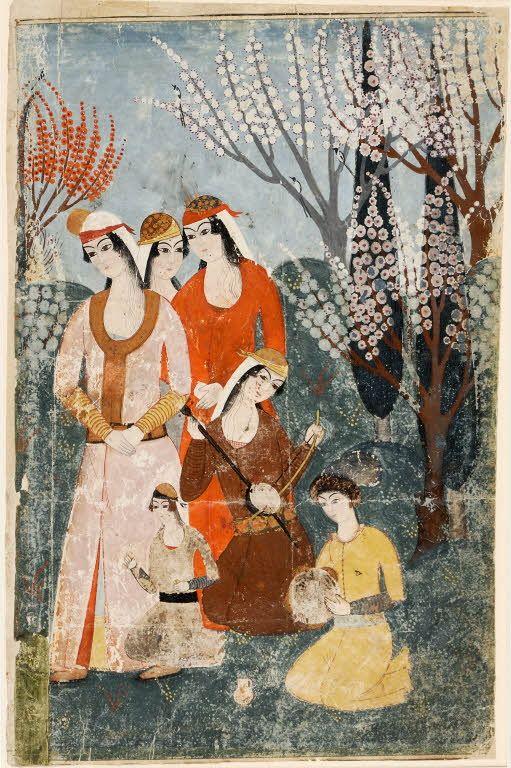 Concert dans un jardin Département des Arts de l'Islam, 18ème siècle, Turquie…
