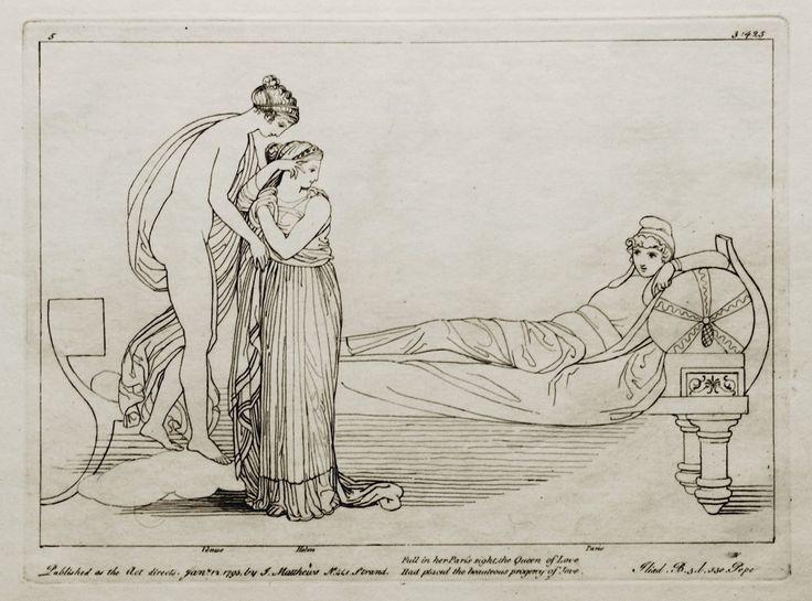 John Flaxman | Venus with Paris and Helen